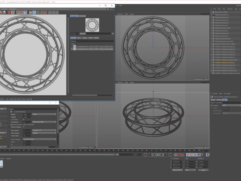 Circle Square Truss Full diameter 150cm  ( 1598.41KB png by akeryilmaz )