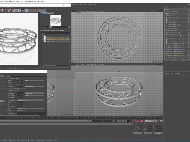 Circle Square Truss Full diameter 150cm  ( 1564.94KB png by akeryilmaz )