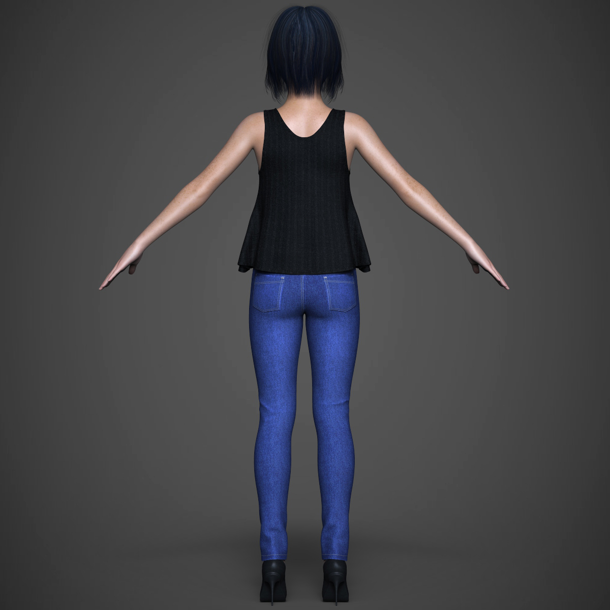 beautiful teen girl 3d model max fbx c4d ma mb texture obj 252315
