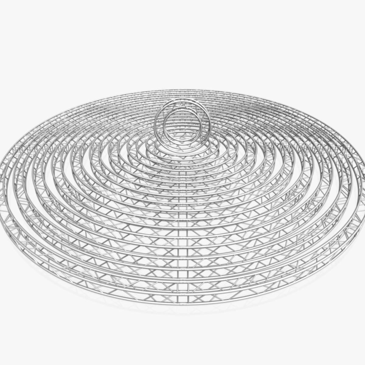 circle square truss modular collection 3d model 3ds max dxf fbx c4d dae  texture obj 252326