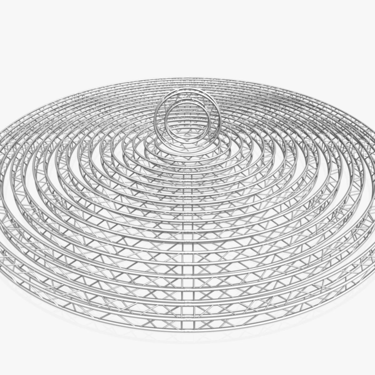circle square truss modular collection 3d model 3ds max dxf fbx c4d dae  texture obj 252328