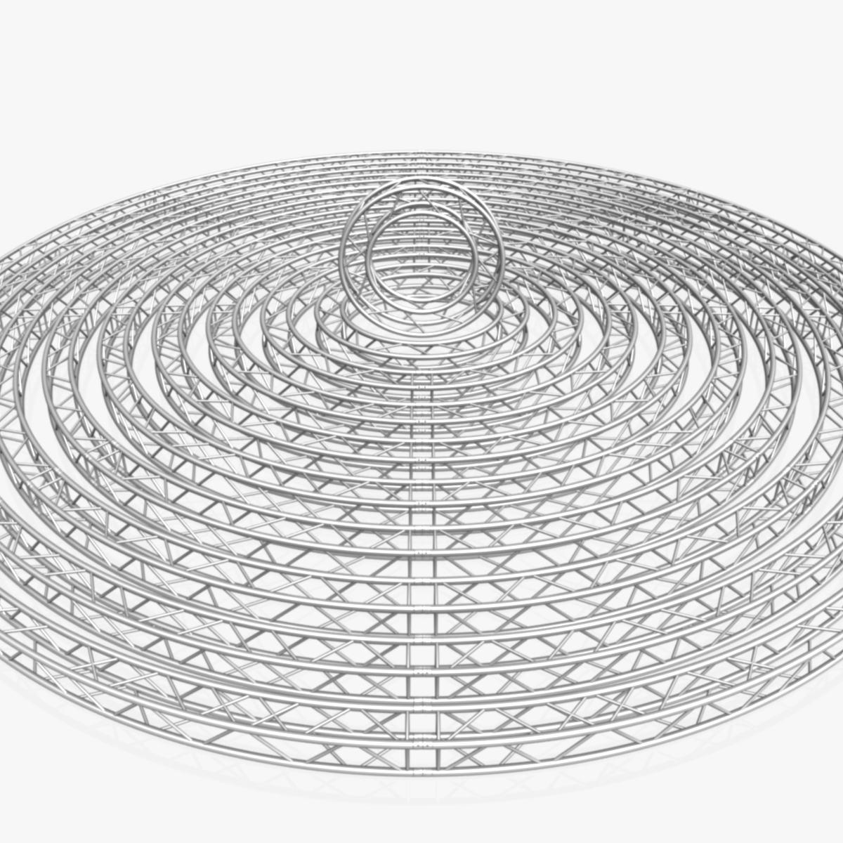 circle square truss modular collection 3d model 3ds max dxf fbx c4d dae  texture obj 252329