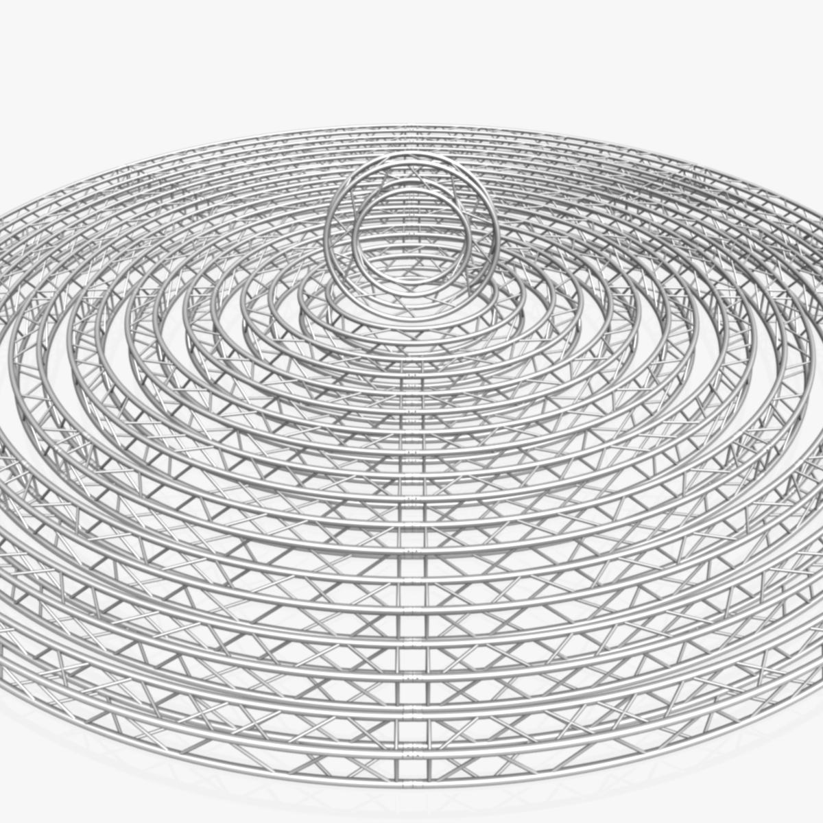 circle square truss modular collection 3d model 3ds max dxf fbx c4d dae  texture obj 252330