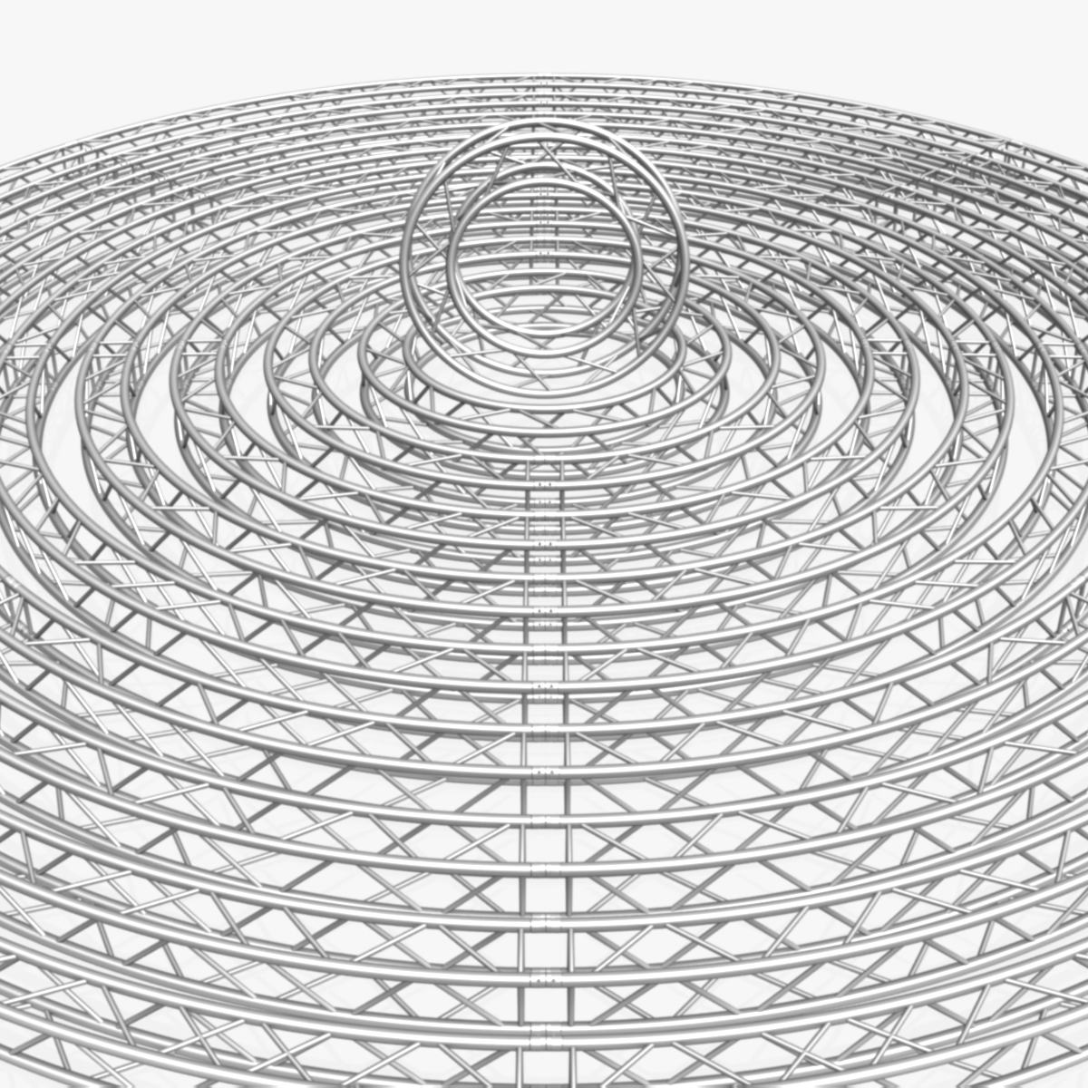 circle square truss modular collection 3d model 3ds max dxf fbx c4d dae  texture obj 252332