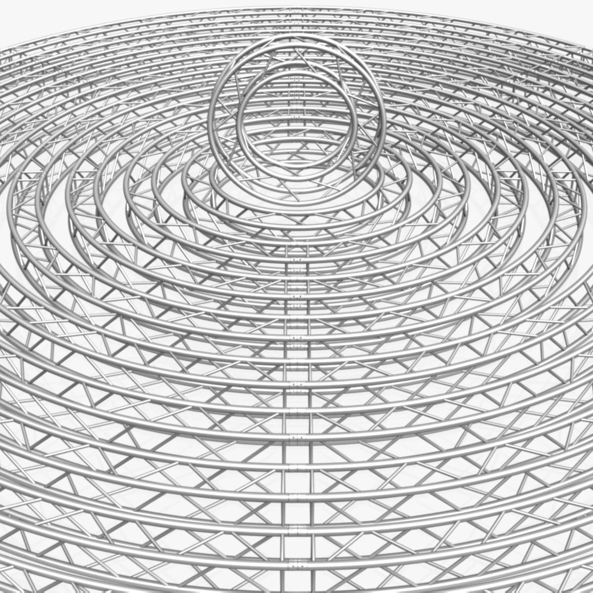 circle square truss modular collection 3d model 3ds max dxf fbx c4d dae  texture obj 252333