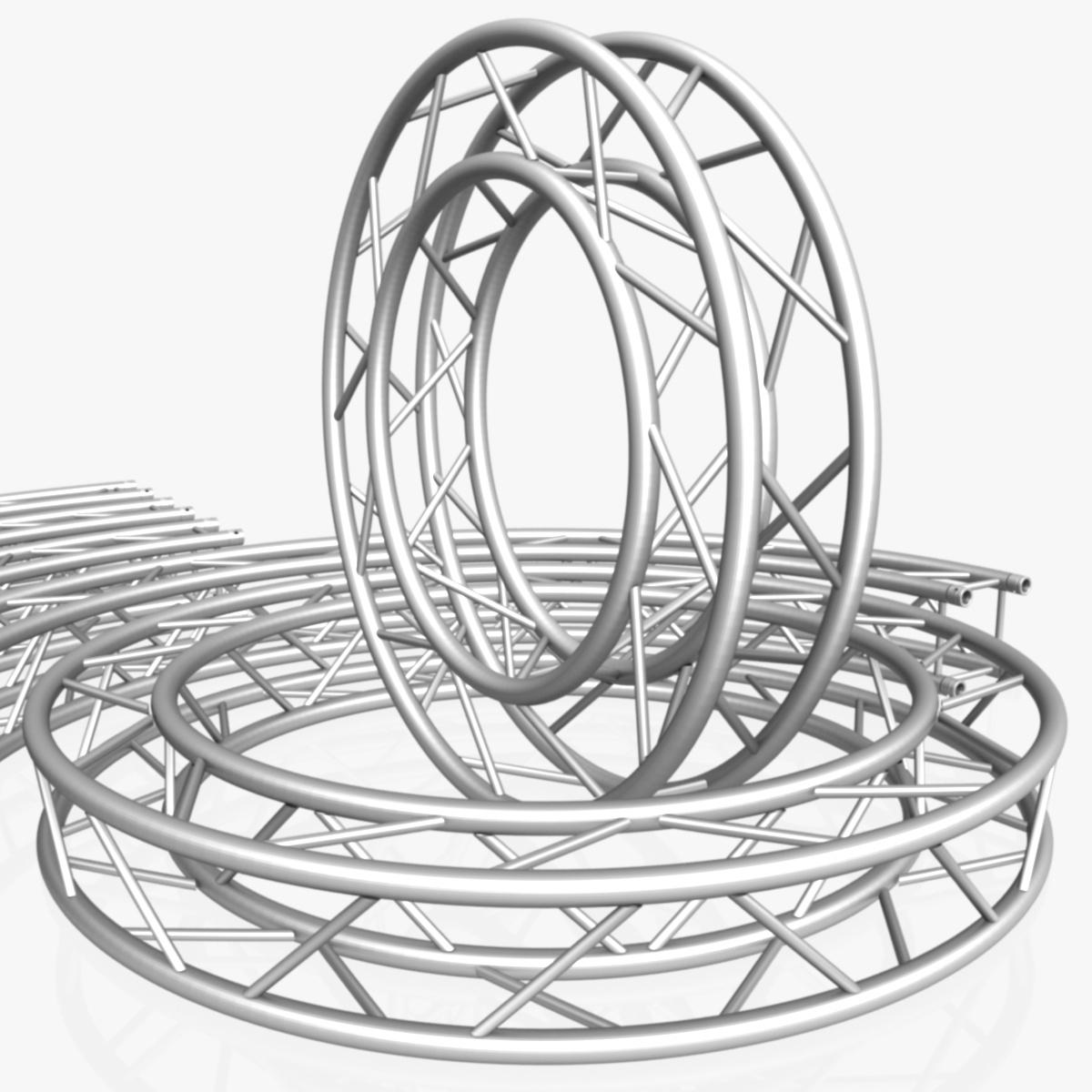 circle square truss modular collection 3d model 3ds max dxf fbx c4d dae  texture obj 252336