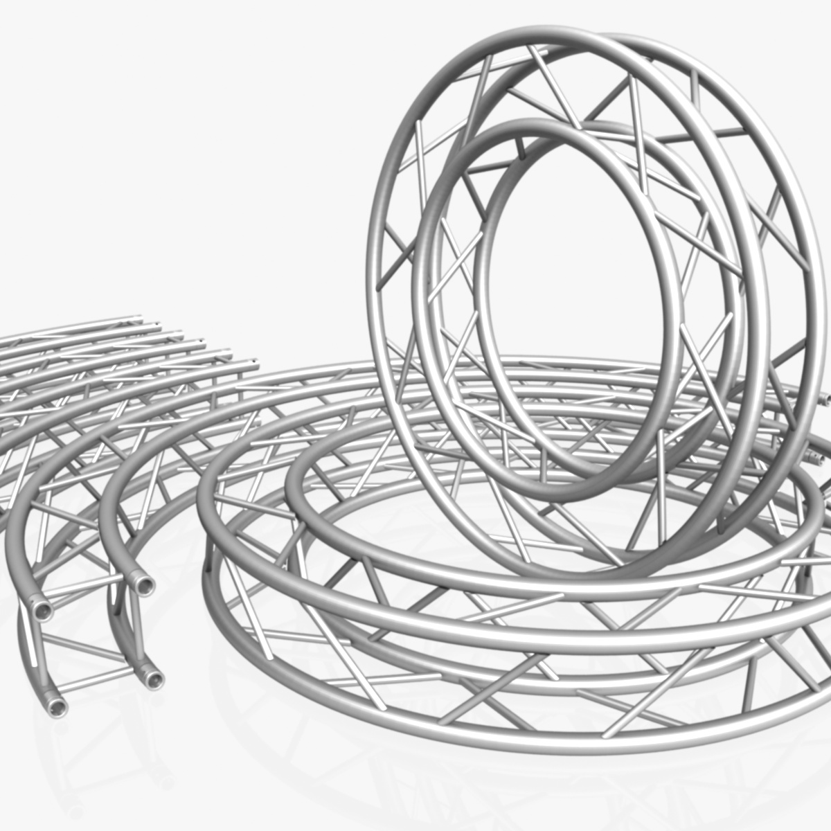circle square truss modular collection 3d model 3ds max dxf fbx c4d dae  texture obj 252337