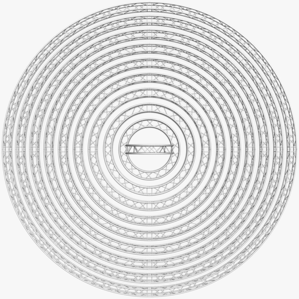 circle square truss modular collection 3d model 3ds max dxf fbx c4d dae  texture obj 252341
