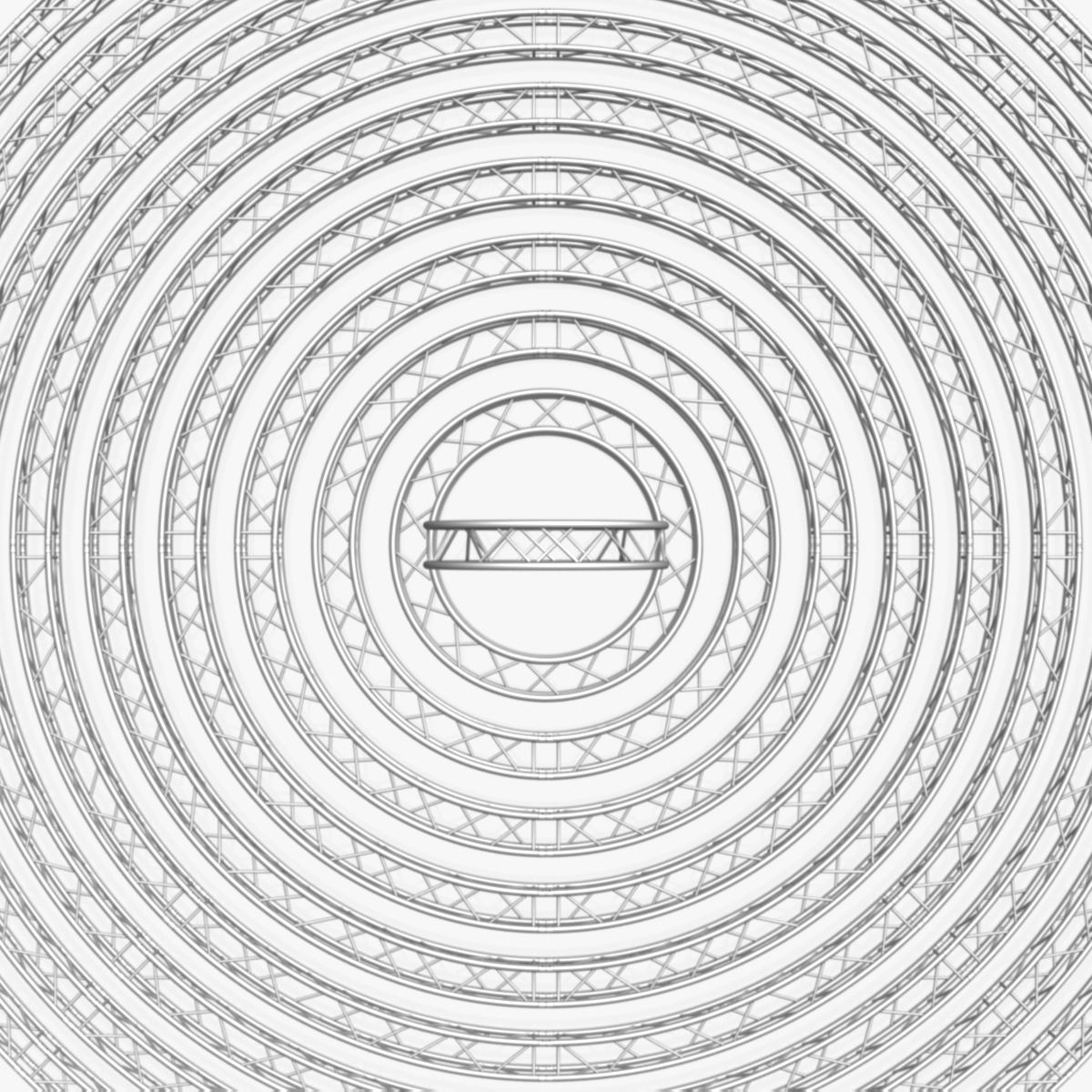 circle square truss modular collection 3d model 3ds max dxf fbx c4d dae  texture obj 252343