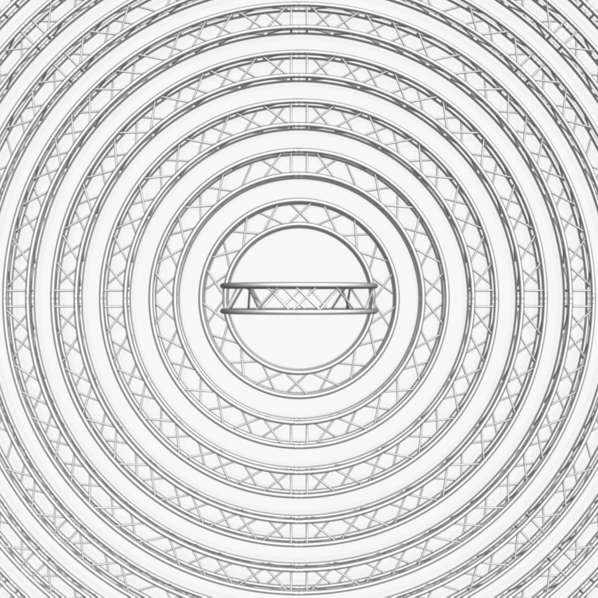 circle square truss modular collection 3d model 3ds max dxf fbx c4d dae  texture obj 252344