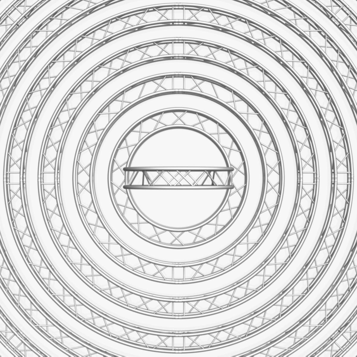 circle square truss modular collection 3d model 3ds max dxf fbx c4d dae  texture obj 252345