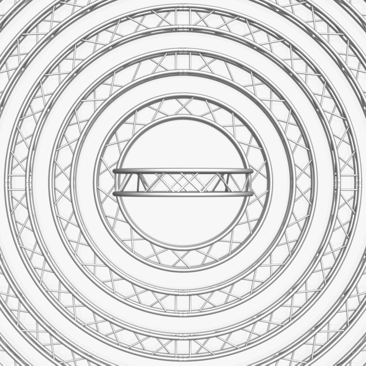 circle square truss modular collection 3d model 3ds max dxf fbx c4d dae  texture obj 252347