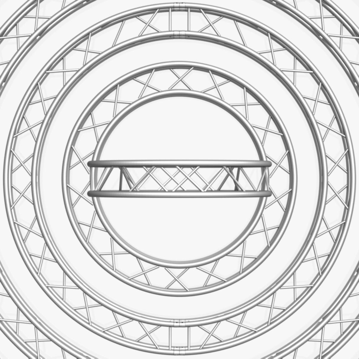 circle square truss modular collection 3d model 3ds max dxf fbx c4d dae  texture obj 252348