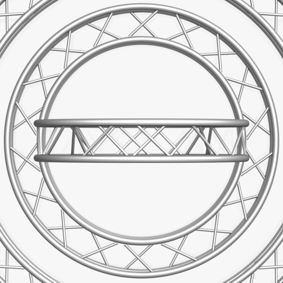 circle square truss modular collection 3d model 3ds max dxf fbx c4d dae  texture obj 252349