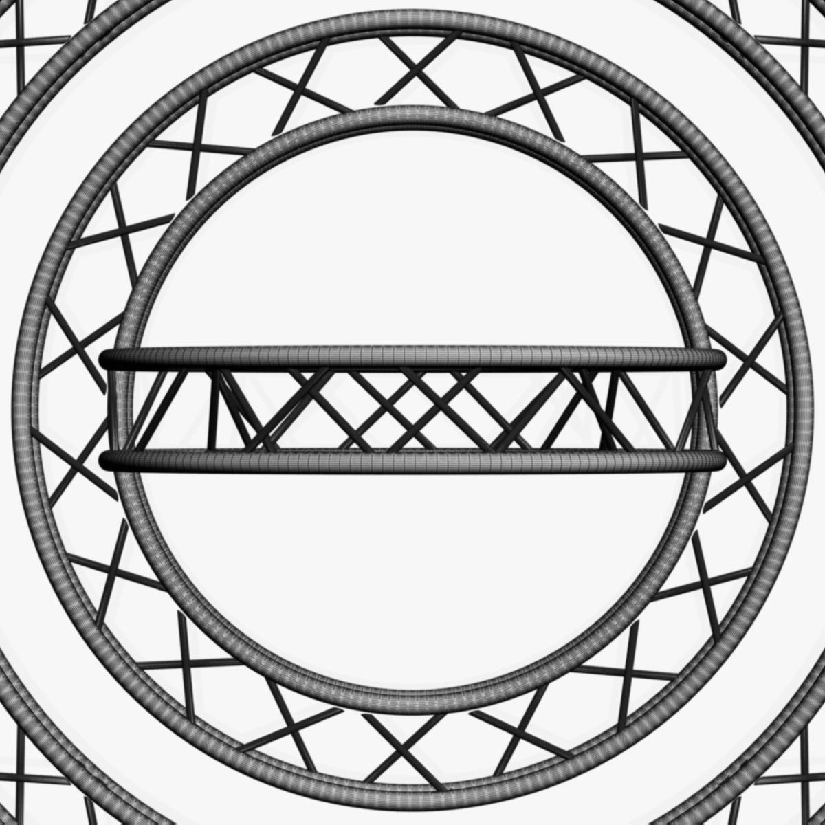 circle square truss modular collection 3d model 3ds max dxf fbx c4d dae  texture obj 252350