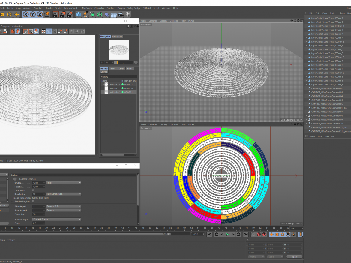Circle Square Truss Modular Collection ( 1688.5KB png by akeryilmaz )
