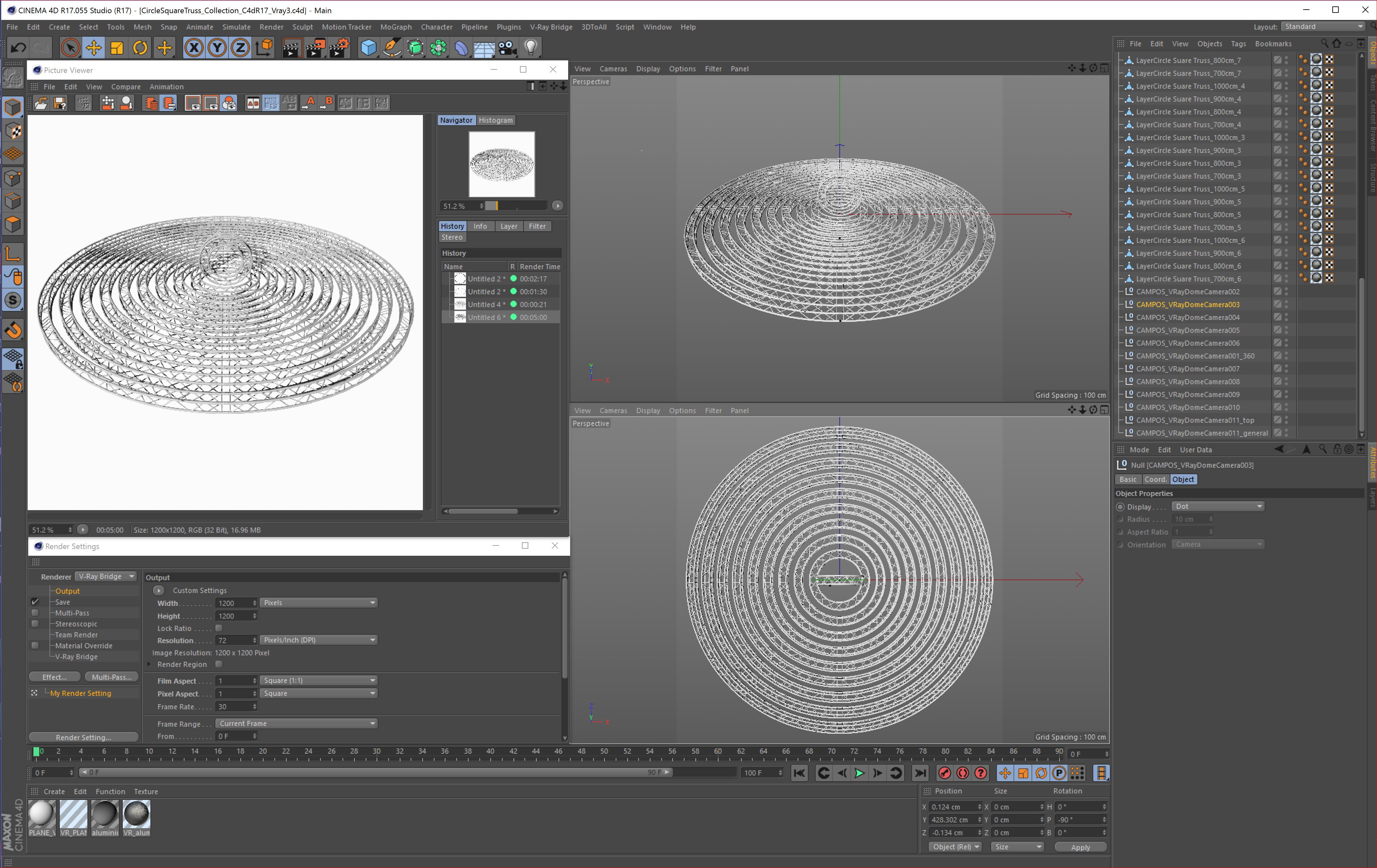 circle square truss modular collection 3d model 3ds max dxf fbx c4d dae  texture obj 252352