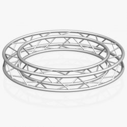 Circle Square Truss (Full diameter 200cm) 3d model 0