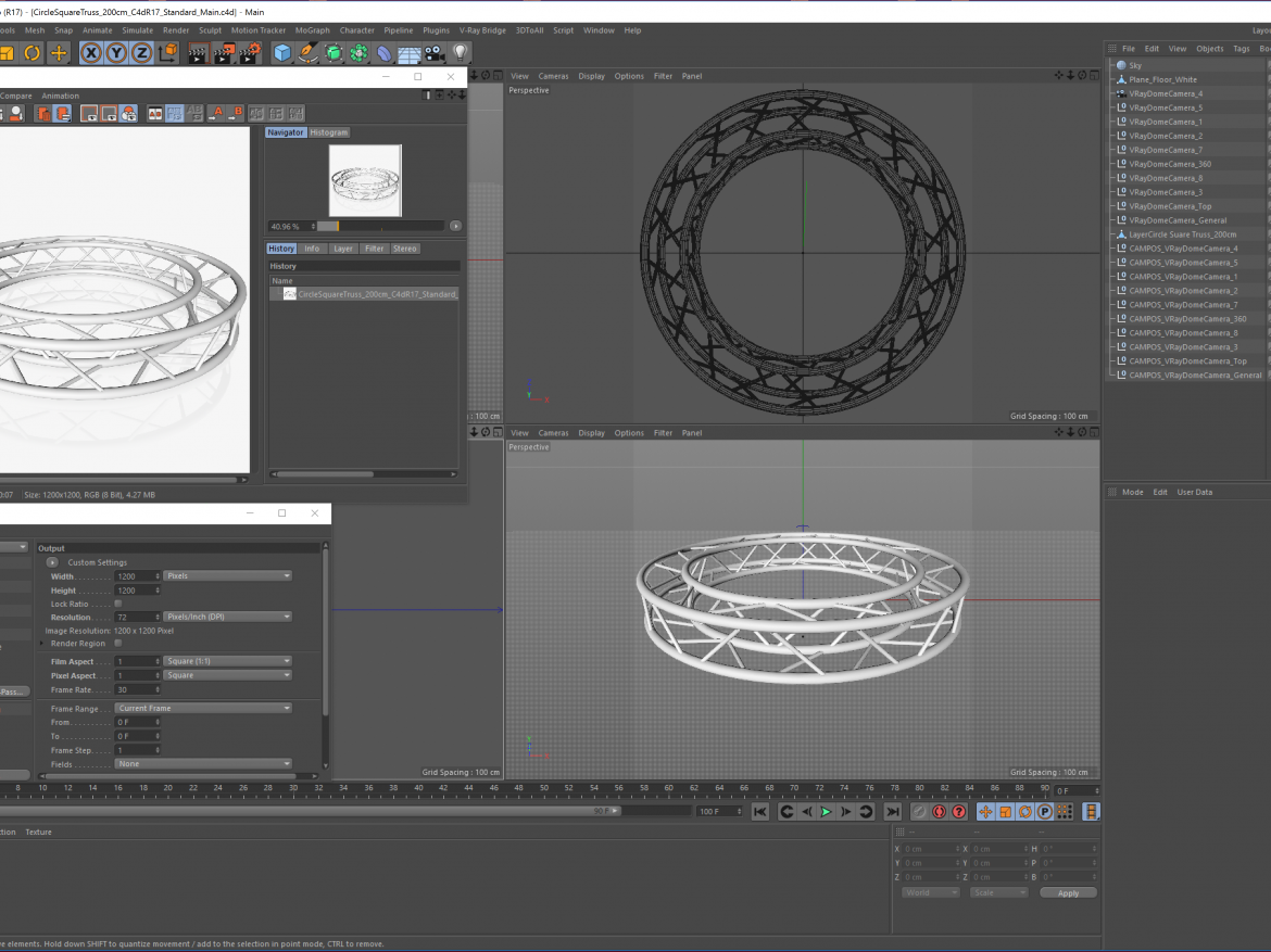 Circle Square Truss (Full diameter 200cm)  ( 1553.06KB png by akeryilmaz )