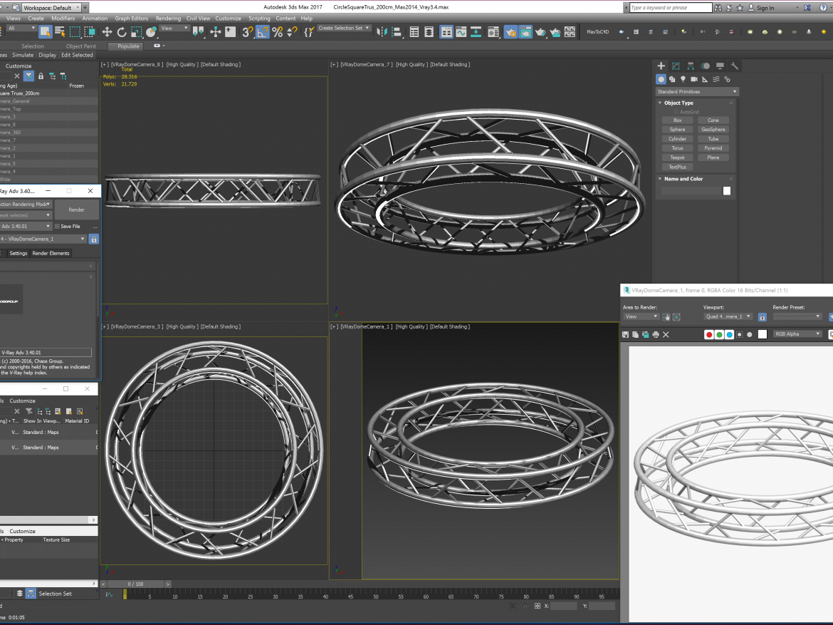 Circle Square Truss (Full diameter 200cm)  ( 1829.03KB png by akeryilmaz )