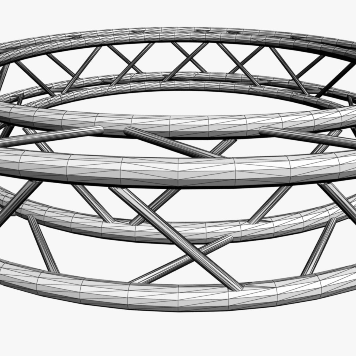 дугуй дөрвөлжин Дотоод (бүрэн диаметр 200cm) 3d загвар 3ds max dxf fbx c4d dae obj 252370