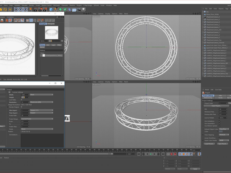 Circle Square Truss (Full diameter 300cm) ( 1612.04KB png by akeryilmaz )