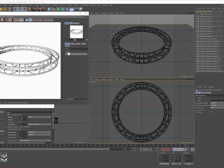 Circle Square Truss (Full diameter 300cm) ( 1618.55KB png by akeryilmaz )