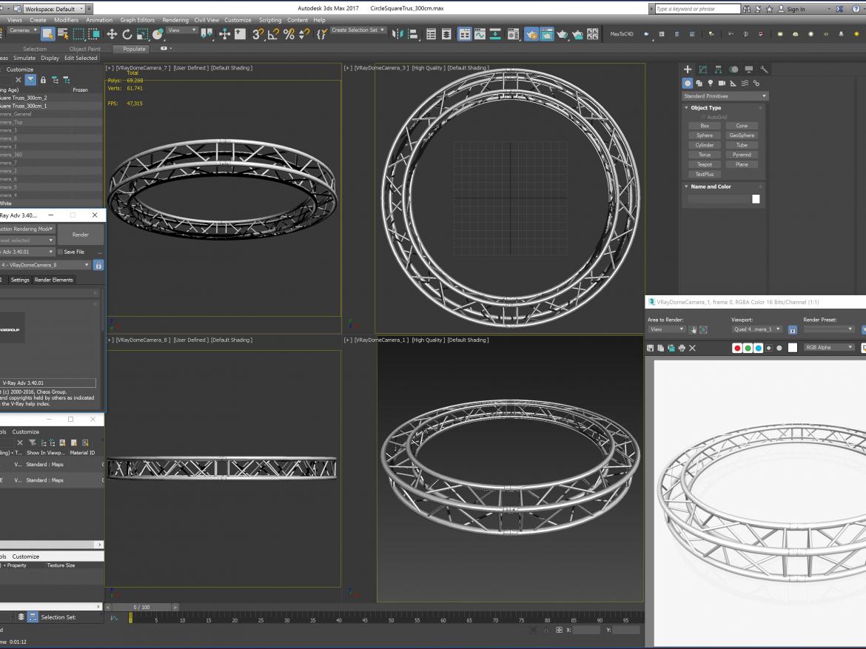 Circle Square Truss (Full diameter 300cm) ( 1776.56KB png by akeryilmaz )