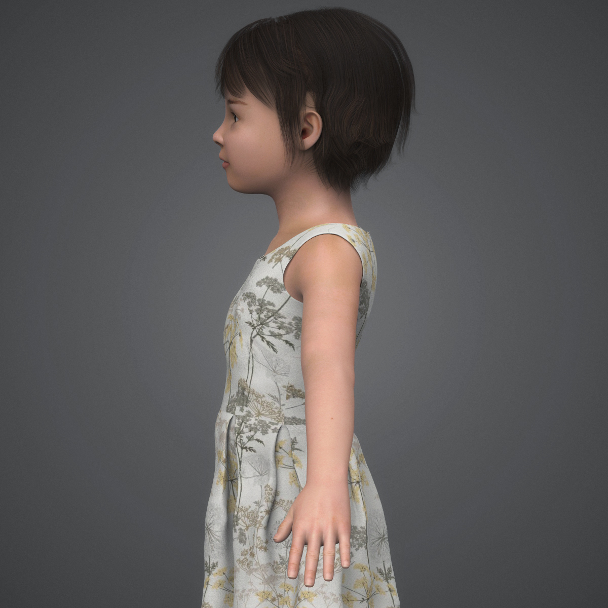 beautiful child girl 3d model max fbx c4d ma mb texture obj 252392