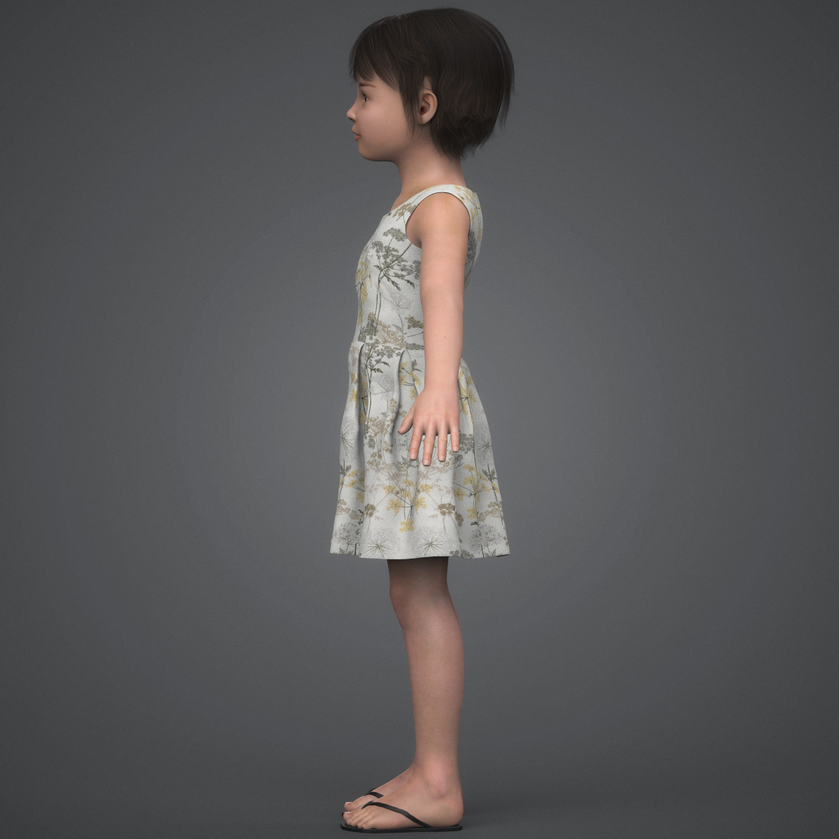 beautiful child girl 3d model max fbx c4d ma mb texture obj 252396