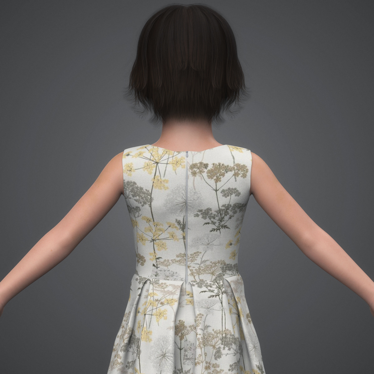 beautiful child girl 3d model max fbx c4d ma mb texture obj 252397