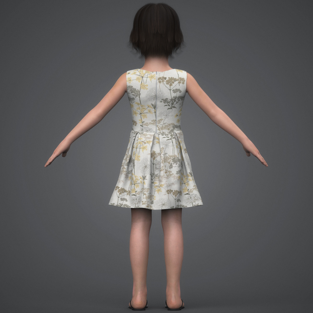beautiful child girl 3d model max fbx c4d ma mb texture obj 252399