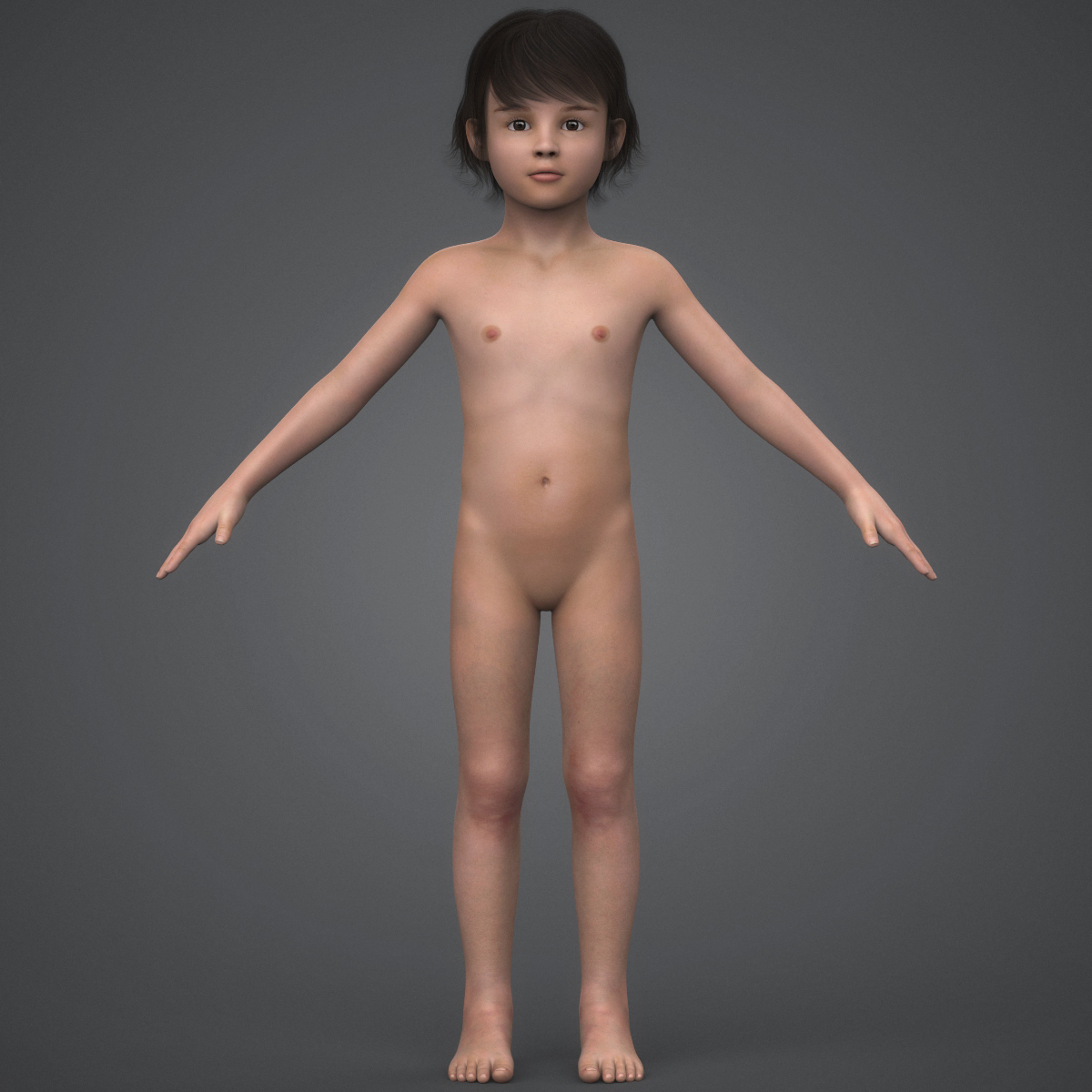 beautiful child girl 3d model max fbx c4d ma mb texture obj 252402