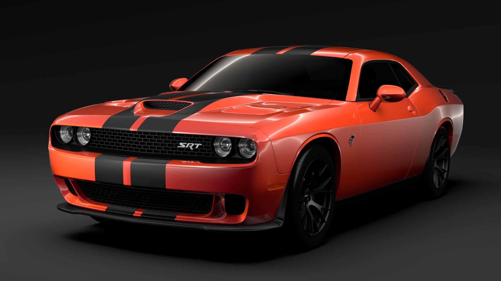 Go Mango Dodge Challenger >> Dodge Challenger SRT Hellcat Go Mangoo 2017 3D Model – Buy Dodge Challenger SRT Hellcat Go ...