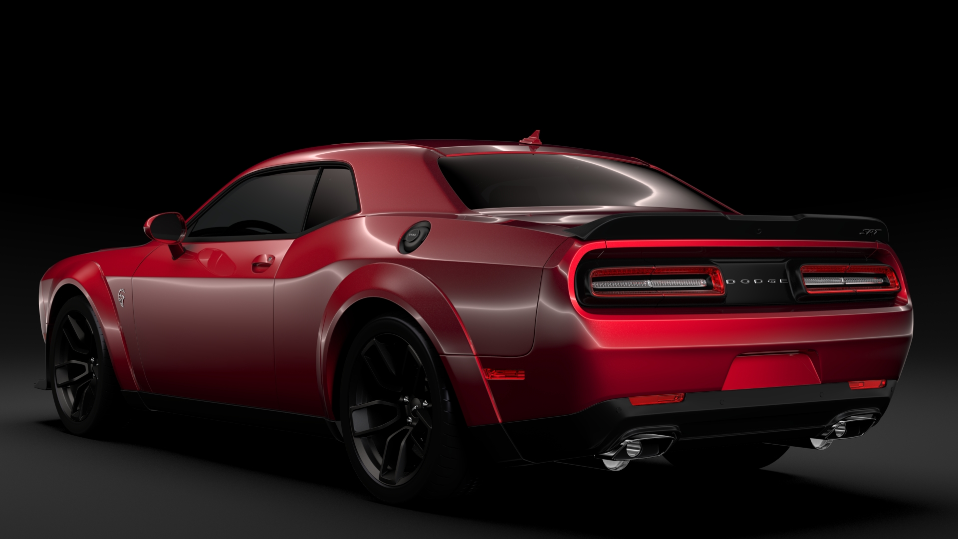 dodge challenger srt hellcat widebody 2018 3d model buy dodge challenger srt hellcat widebody. Black Bedroom Furniture Sets. Home Design Ideas