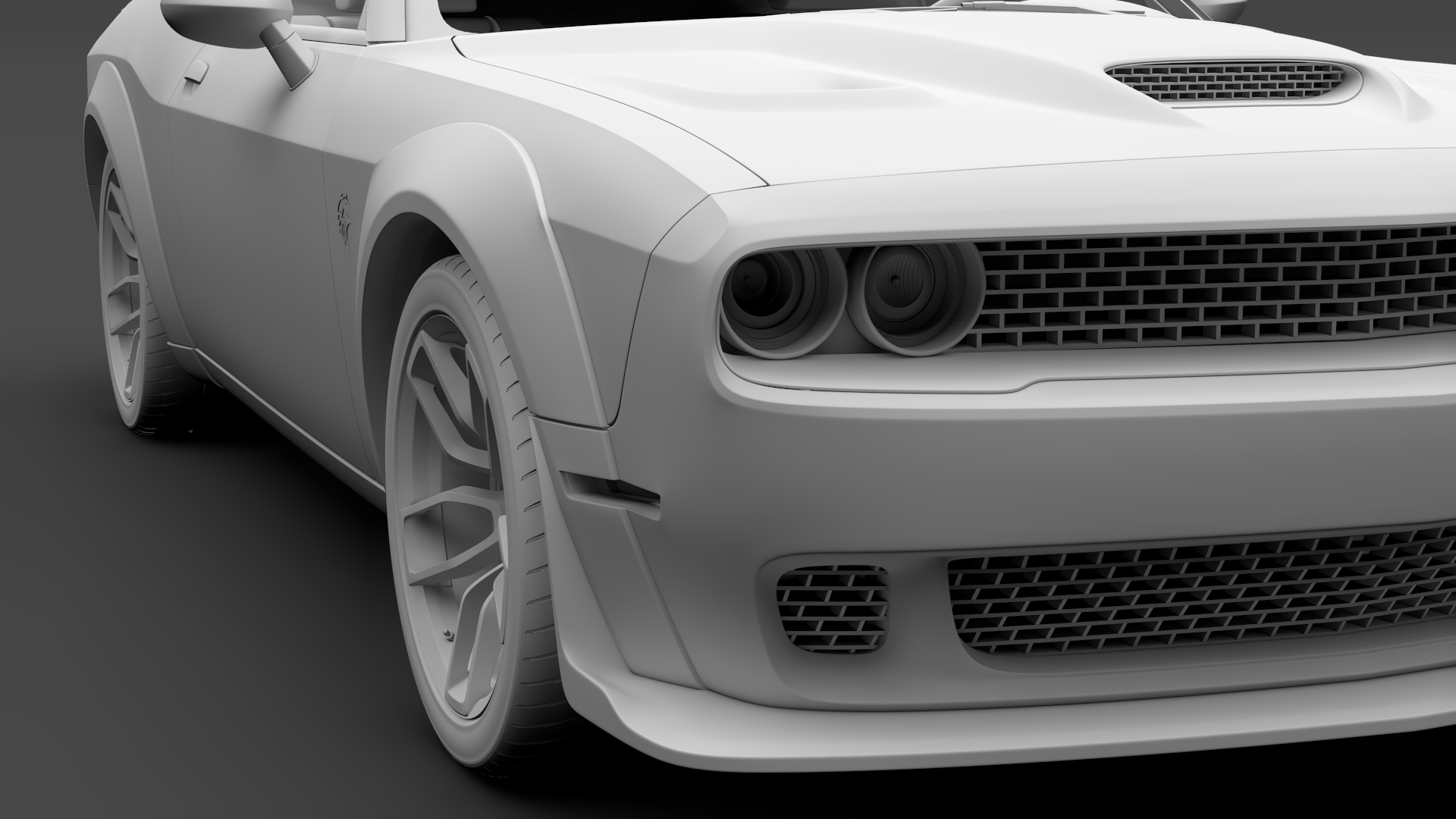 Dodge Challenger Srt Hellcat Widebody 2018 3d Model