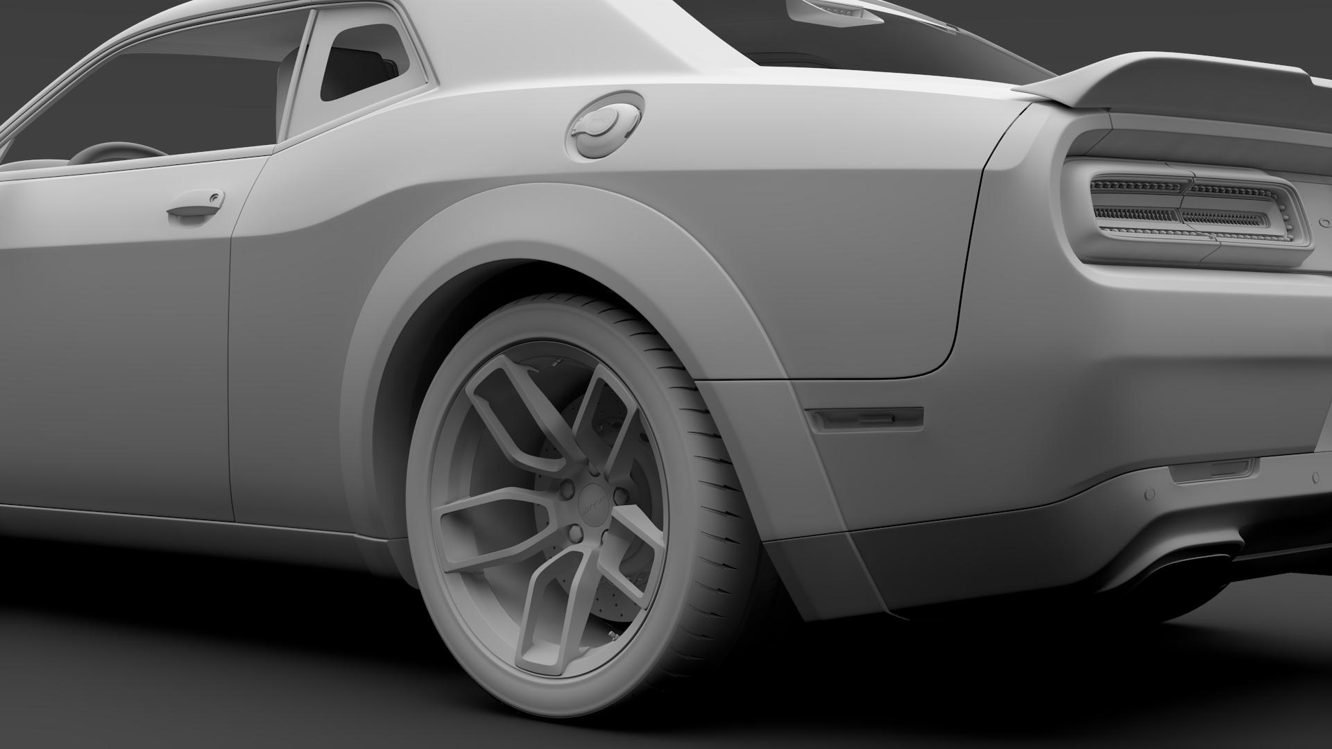Dodge Challenger Srt Hellcat Widebody 2018 3d Model Buy