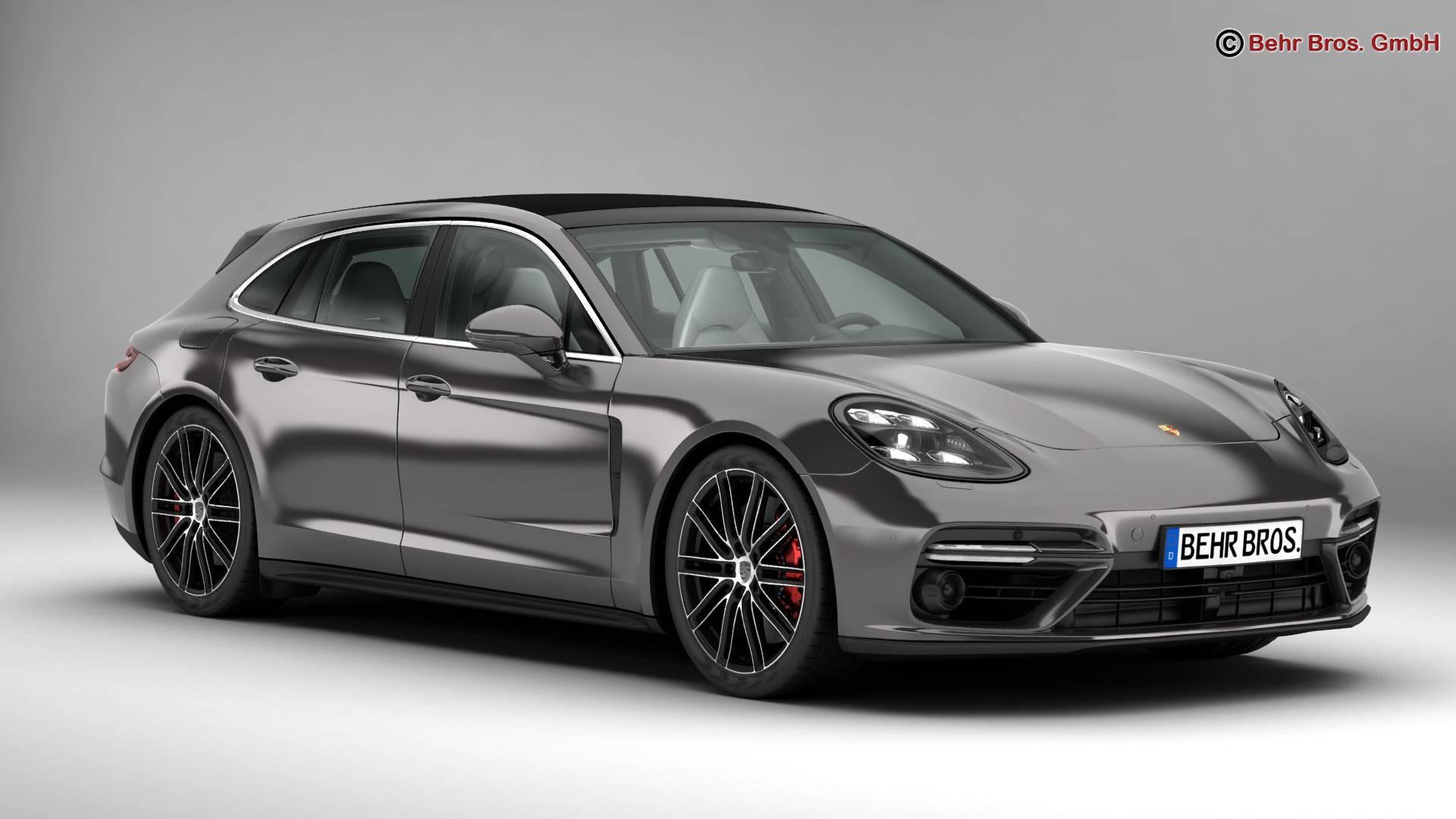 Porsche Panamera Sport Turismo Turbo 2018 3d Model