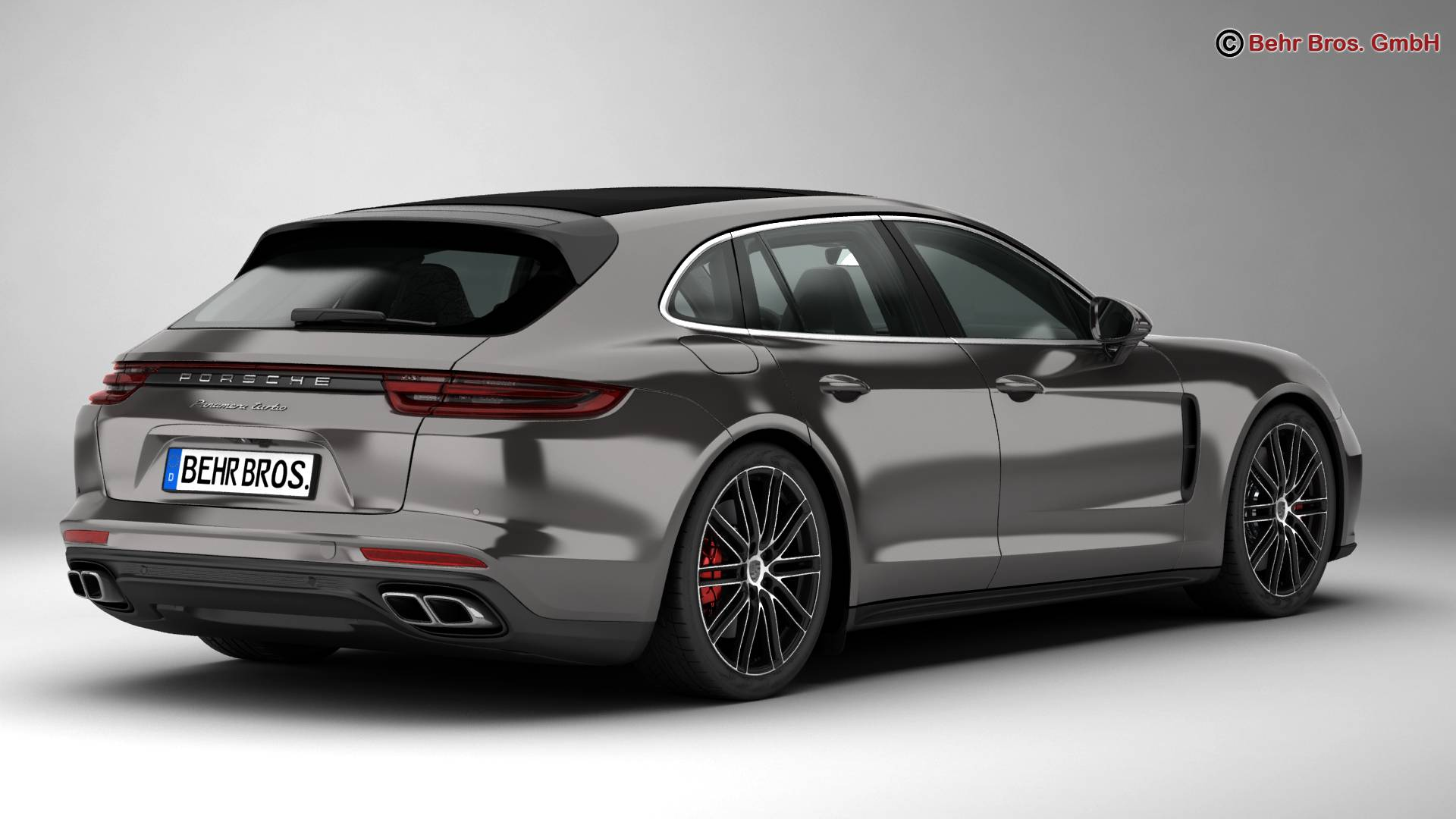 porsche panamera sport turismo turbo 2018 3d model. Black Bedroom Furniture Sets. Home Design Ideas