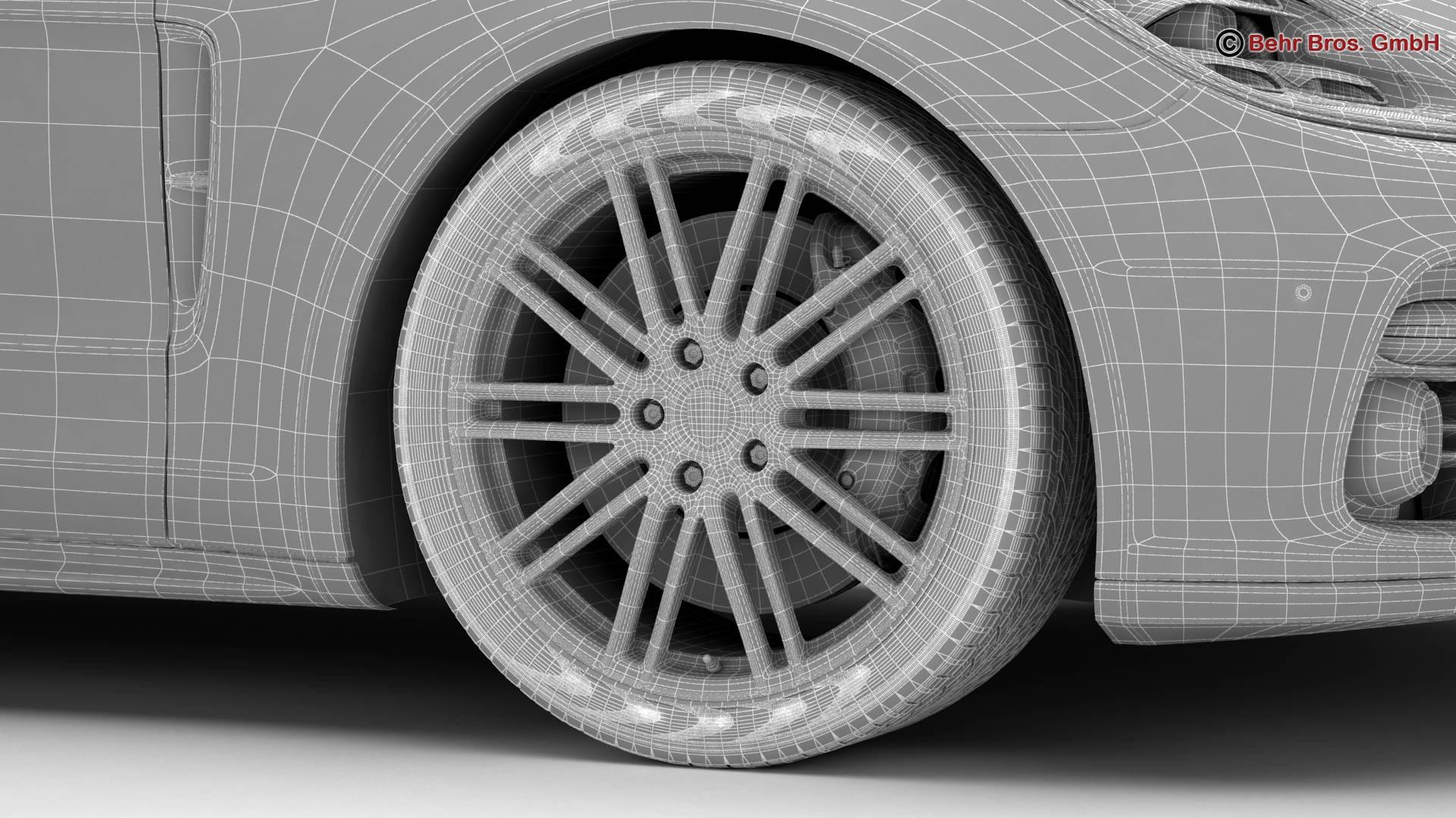 porsche panamera sport turismo turbo 2018 3d model 3ds max fbx c4d lwo ma mb obj 252521