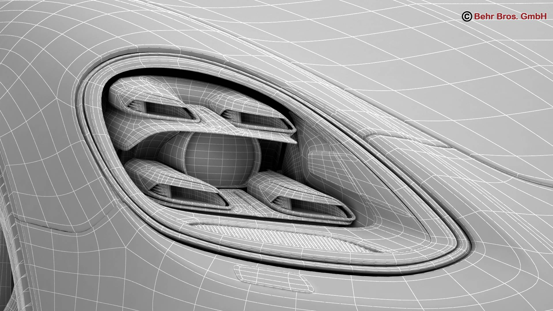 porsche panamera sport turismo turbo 2018 3d model 3ds max fbx c4d lwo ma mb obj 252522