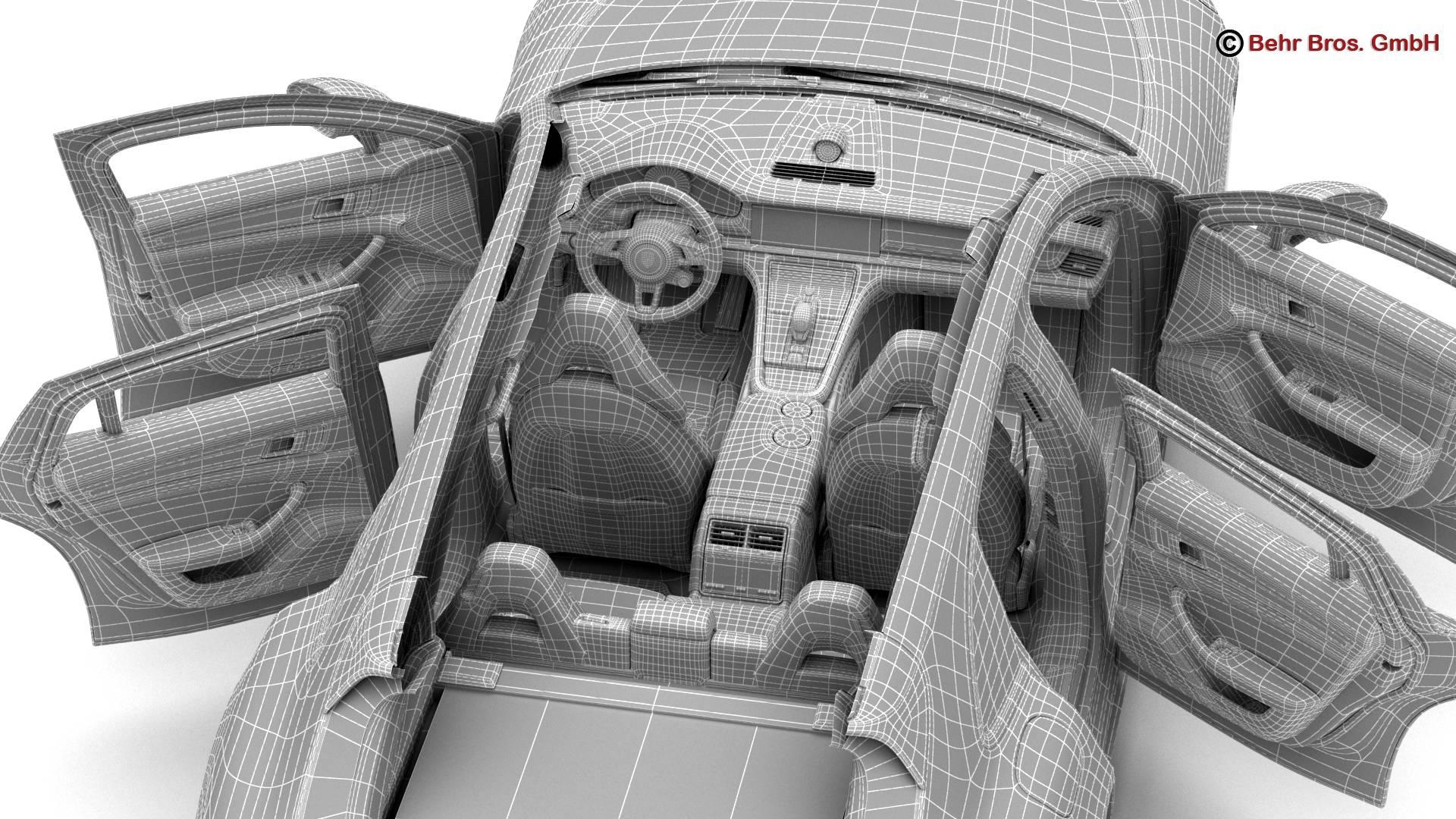 porsche panamera sport turismo turbo 2018 3d model 3ds max fbx c4d lwo ma mb obj 252525