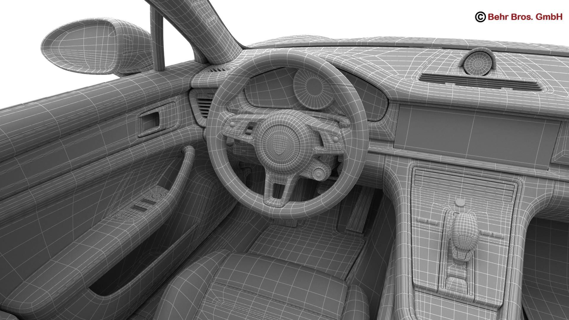 porsche panamera sport turismo turbo 2018 3d model 3ds max fbx c4d lwo ma mb obj 252527