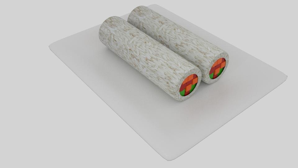 cylinder sushi 3d model blend 252550