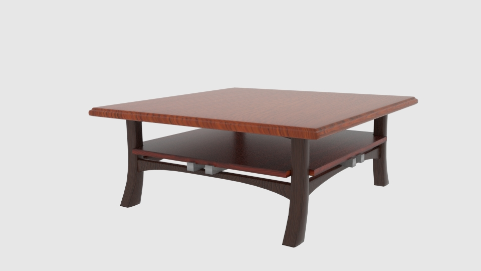 japanese inspired shaker table 3d model blend 252557