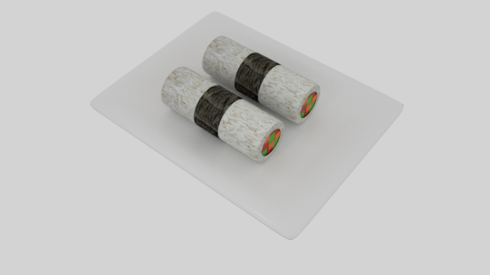 cylinder sushi nori strip 3d model blend 252564
