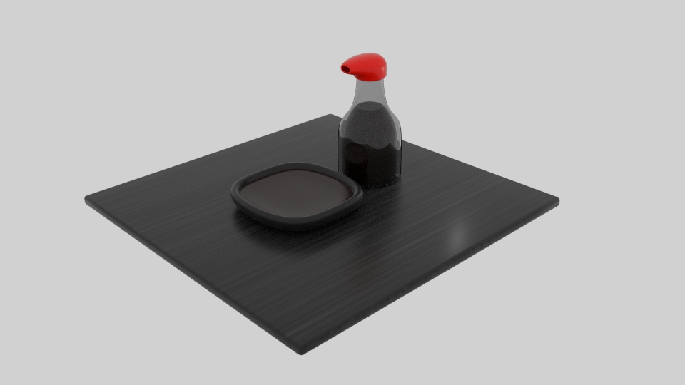 japanese soy sauce 3d model blend 252578