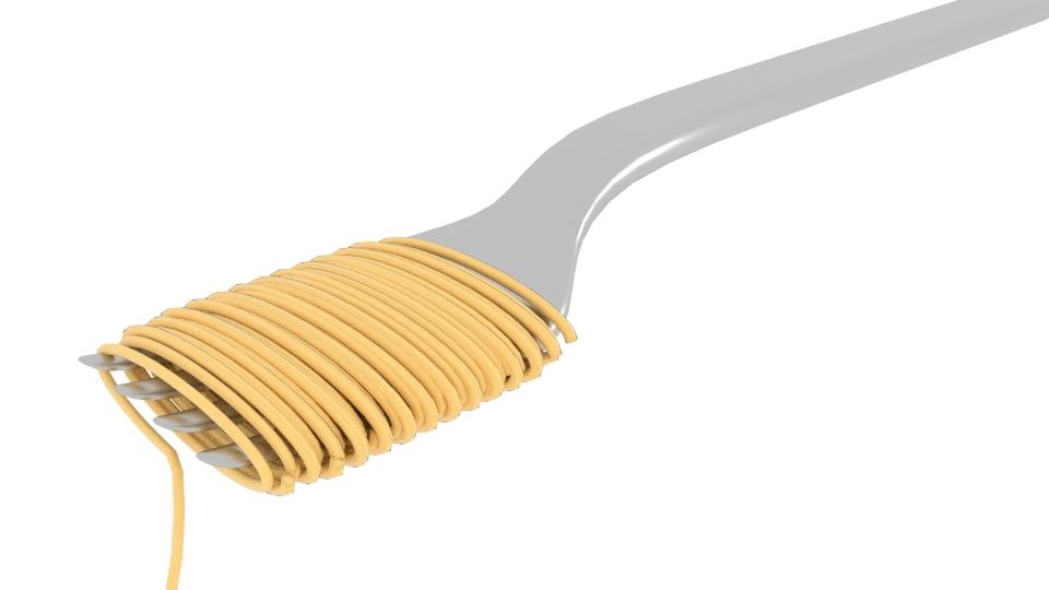 Noodle Fork 3d model blend 252585