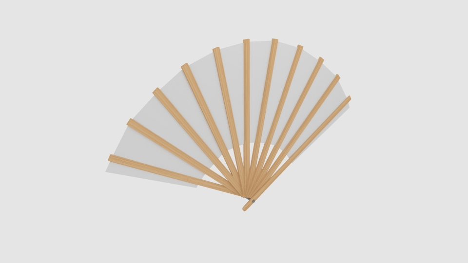 japanese fan bokashi 3d model blend 252592