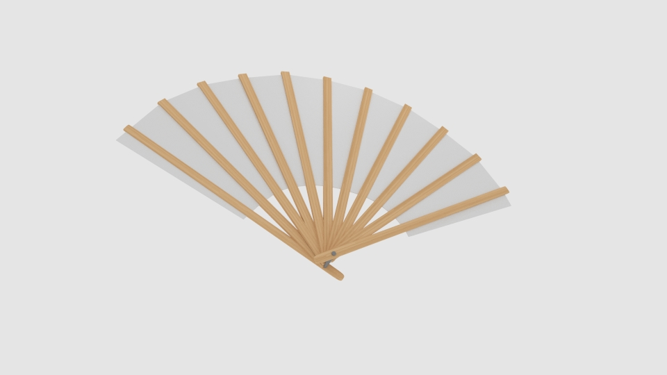 japanese fan bokashi 3d model blend 252595